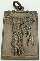 1923 SFAL San Francisco Athletic League 110 LB Class Relay Medal Fob Granat's