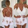 Mini vestido vacaciones de verano para mujer de pantalones cortos de playa Mono