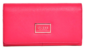 NEW GUESS Abree Wallet Womens Large Organizer Clutch Purse Pink BNWT