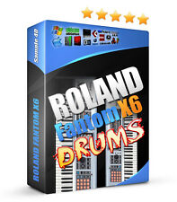 Roland Fantom X6 Drum Samples 3700 Sounds Percussions Reason FL Studio Logic MPC