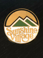 Vintage Collectible Sunshine Village Colorful Metal Pinback Lapel Pin Hat Pin