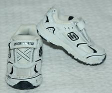 Sketchers Skx White Leather Tennis Shoes Infant Toddler Sz 5 12-18M New $49 Fbb