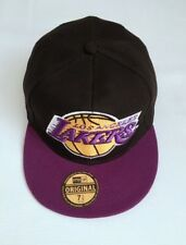New NBA Basketball LA Lakers Sized hat Flat Brim Closed back Fitted Cap Cotton