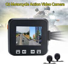Motorcycle Twin Camera Motorbike Dual HD Dash Cam Video Camcorder Waterproof US