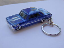 Hot Wheels Classic 63 Chevy 2 Nova Keyfob Keychain Car Keyring