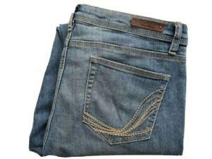 Corfu Womens Blue Denim Stretch Jeans Size 12