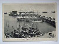 PORTO EMPEDOCLE molo vecchio velieri barche Agrigento vecchia cartolina