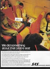 SAS SCANDINAVIAN AIRLINES DOUGLAS DC-8 JETS DID SOMETHING WITH CENTER SEAT AD