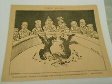 1897 Original Print Humour Combats de Coqs les bons spectateurs