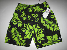 Quiksilver Boys M/12 Swim Surf Board Trunks Shorts Mesh Shrimp Truck Black