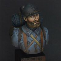 1/12 WW1 Soldier Resin Bust Model Kits Unpainted GK Unassembled