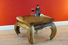 Couchtisch 60 x60 Massivholz Wohnzimmertisch aus Akazie Opiumtisch Beistelltisch