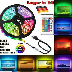 LED Band Streifen RGB Stripe Licht-Leiste 5050 SMD Lichtschlauch +Farbwechsel DE