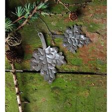 Dekohänger Blätter aus Metall 2 tlg. Ahorn Herbstdekoration