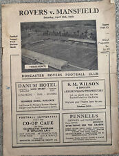 More details for doncaster rovers v mansfield town 1949/50