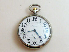 Molnija OLYMPIC GAMES Moskov 1980 USSR Vintage Mechanical POCKET Watch cal.3602