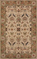 Hand-tufted 100% Wool Classic Floral Ivory Kaashaan Agra Oriental Area Rug 5x8ft