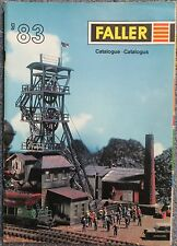 per Faller Modellismo Anno Catalogo 1983 3 lingue, engl-franz niederl