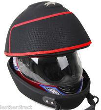 Racing Rally Negro Moto Bicicleta Rojo Bolsa Casco Headcase Carrera Tapa Carry Case