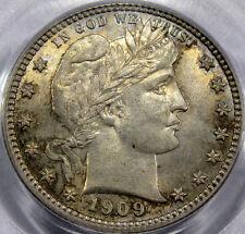 1909 Barber Quarter PCGS Choice MS-63... A PQ Coin, FLASHY & ORIGINAL, VERY NICE