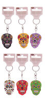 Candy Skull Keyring Mexican Sugar Day Of The Dead Keychain Ornament Gift