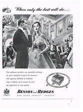 PUBLICITE ADVERTISING  1958   BENSON & HEDGES  cigarettes