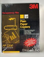 "3M Transparency Film for Plain Paper Copiers 81/2"" x 11"" Black on clear PP2200"
