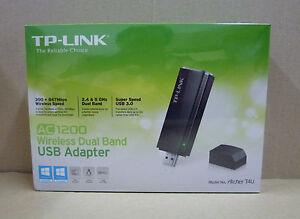 TP-Link Archer T4U AC1200 Wireless Dual Band USB Adapter Win XP/7/8/10/Mac OS