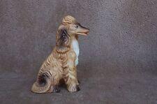 Vtg Bisque Afghan Hound Dog