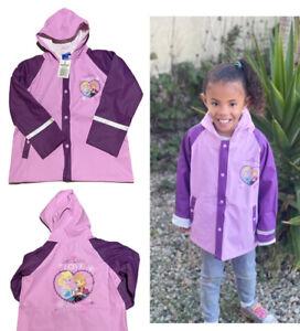 NEW girls Disney frozen purple summer light hooded raincoat rain coat jacket