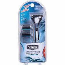 Men's Schick Quattro Titanium Value Pack 1 Razor + 3 Cartridges