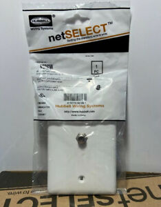 Case Of 25 Hubbell NS750W Molded In Plate 1 Gang Flush Mount Single F-Con White