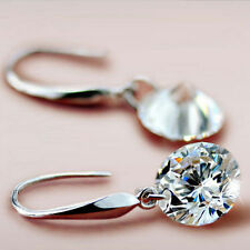 ~Stunning 925 Stamped Hook Earrings made w/ Naked Swarovski Crystal Stone!~