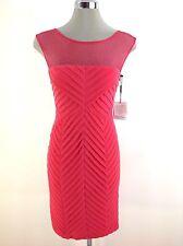 304b20ae503 Calvin Klein Womens Sleeveless Mesh Shirt Dress - Medium Pink 2