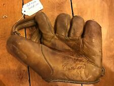 Vintage Chet Laabs DENKERT split finger model G55 baseball glove RARE