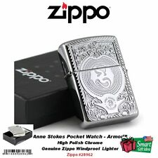 Zippo Anne Stokes Pocketwatch, Armor™ Lighter, High Polish Chrome #28962