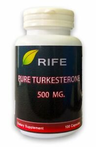 PURE TURKESTERONE 500 MG 100 CAPSULES, MUSCLE MASS FOR BODYBUILDING