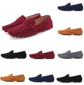 Chic Men Loafers Slip On Pumps Boat Gommino Casual Outdoor Suede Moccasins Shoes