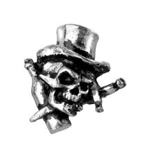 ALCHEMY GOTHIC Earrings Orecchini Skull Hat OFFICIAL MERCHANDISE