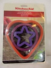 NWT KITCHEN AID COOKIE CUTTERS ~ Heart, Circle, Star ~ Stainless Steel Soft Grip