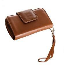 Universal Multiple-Storage Genuine Leather Clutch Wallet/Phone Holder - Brown