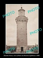 OLD LARGE HISTORIC PHOTO OF HOUTRIN FRANCE, THE HOURTON LIGHTHOUSE c1880