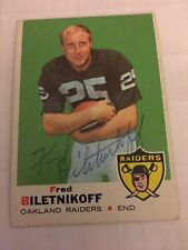 Signed 1969 Topps Fred Biletnikoff Oakland Raiders