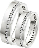 His And Hers 7mm Classic Titanium Wedding Engagement Band Ring Set