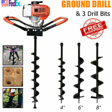 52cc Gas Powered Post Hole Digger Earth Auger Drilling Borer468 Drill Bit
