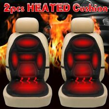 🔥 2x 12V Car Heated Front Seat Cushion Cover Heating Heater Warmer Pad Winter
