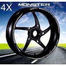 KIT ADESIVI CERCHI MOTO WHEEL BIANCO PROFILO RUOTA DUCATI Monster 1100 696 797