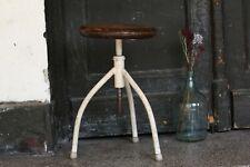 Adjustable Stool Vintage Dental Stool Industrial Three Legged White Metal Stool