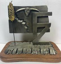 Tom TJ NEARY 1988 North Dakota Metal Sculptures Washburn ND Signed