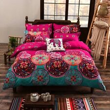 Oriental Mandala Doona Quilt Cover Queen Size Duvet Covers Bed Pillow Cases Set